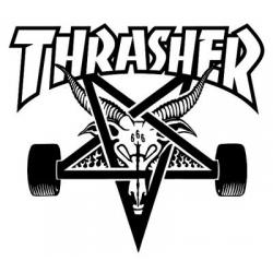 Thrasher Skategoat - Zwart / Wit sticker