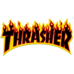 Thrasher Flame - Yellow / Black sticker