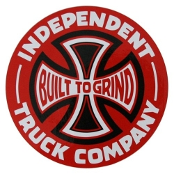 Independent Trucks CO Built To Grind - Black/Red sticker