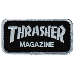 Thrasher Black / Gray logo patch