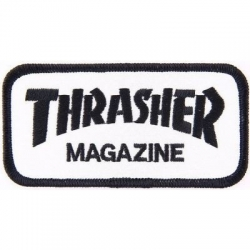 Thrasher Black / White Logo patch