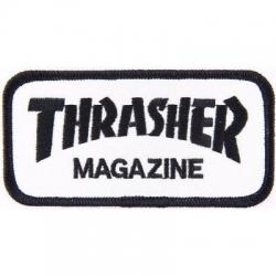 Thrasher Schwarz / Weiß-Logo patch