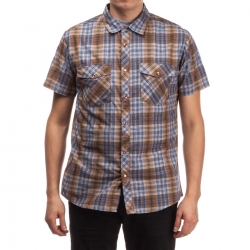 Brixton Waynes - Brown Blue shirt