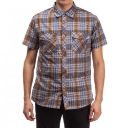 Brixton Waynes - Brown Blue camisa