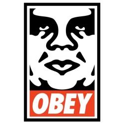 Obey Icona obbedisci - Media etichetta