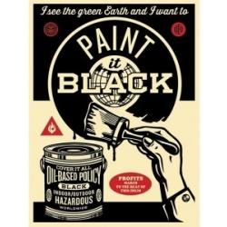 Obey Pinte de preto autocolante