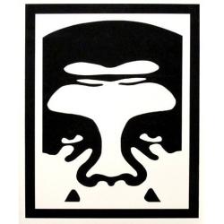 Obey Half Face Icon - Medium sticker