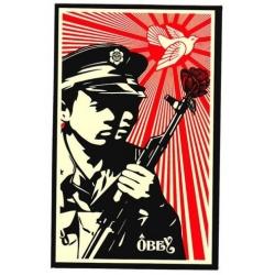 Obey Rise Above - Make art Not War sticker