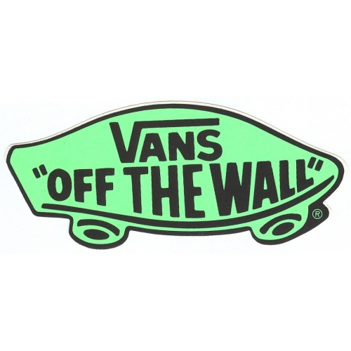 Off The Wall - Adesivo - Vans - verde fluo
