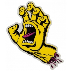 Santa Cruz Screaming Hand Yellow Mid sticker
