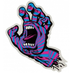 Santa Cruz Screaming Hand - Party Hand - Pink Blue - Mid sticker