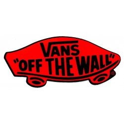 Vans Classic Off The Wall - Black Red sticker