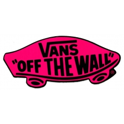 Vans Classic Off The Wall - Pink sticker