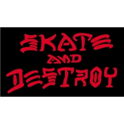 Thrasher Skate And Destroy - Black Red pegatina