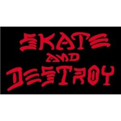 Thrasher Skate And Destroy - Zwart Rood sticker