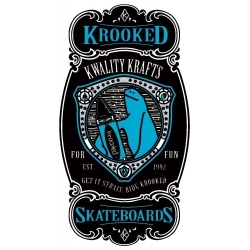 Krooked Skateboards Krayon Blue sticker
