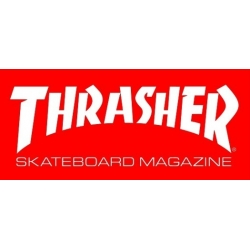 Thrasher Magazine Skate Mag - Red - M sticker