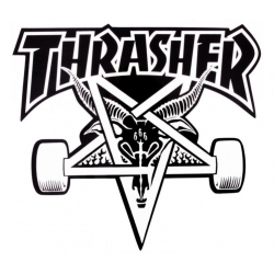 Thrasher Skategoat - White / Black sticker