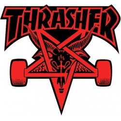 Thrasher Skategoat - Red / Black sticker