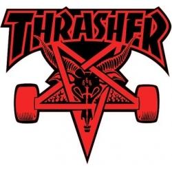 Thrasher Skategoat - Red / Black sticker
