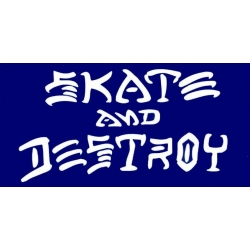 Thrasher Skate And Destroy - Blau aufkleber