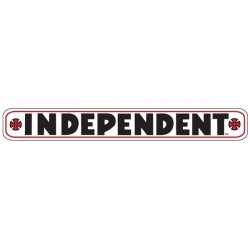 "Independent Bar Decal 8"" - White sticker"