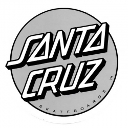 Santa Cruz Classic Dot silver XL sticker
