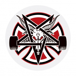 Thrasher Pentagram Clear Mylar sticker