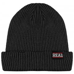Real Bar Logo Cuff - Black beanie
