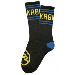 Krooked Skateboards Kollege - Black chaussettes