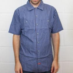 Brixton Azul blake camisa