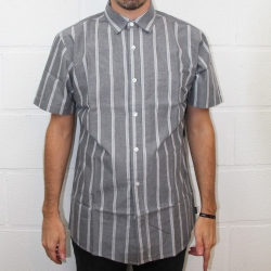 Brixton Decca charcoal white shirt