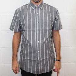 Brixton Decca houtskool wit shirt