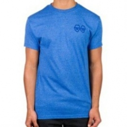 Krooked Skateboards Eyes heather blue t-shirt