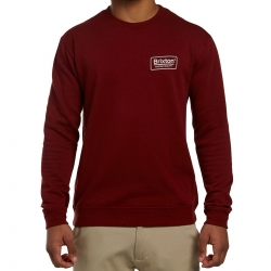 Brixton Ltd Palmer crew pullover neck brick sweat