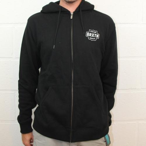 Garth zip fleece black