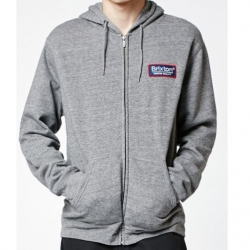 Brixton Ltd Palmer hood zip up heather grey sweat