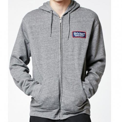 Palmer hood zip up heather grey