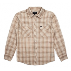 Brixton MEMPHIS LS WVN LIGHT TAN BROWN shirt