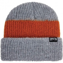 Brixton langley stripe light heather gray beanie