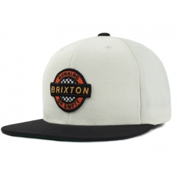 Brixton Ltd speedway snapback off white black casquette