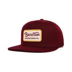 Brixton Ltd grade burgundy casquette