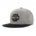 garth snapback light heather grey black