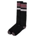 Woven Crosses Sock - Black