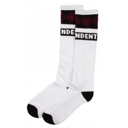 Woven Crosses Sock - White