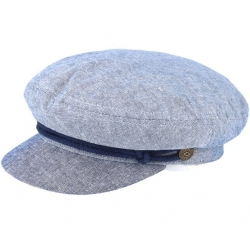Brixton fiddler light blue navy cap