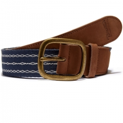 Brixton navy cream race belt