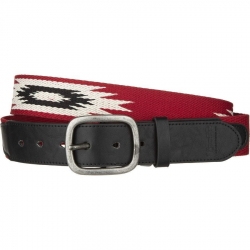 Brixton Red cream race belt