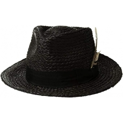 Brixton crosby fedora washed black cap