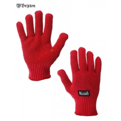 Brixton Langley gloves red bonnet